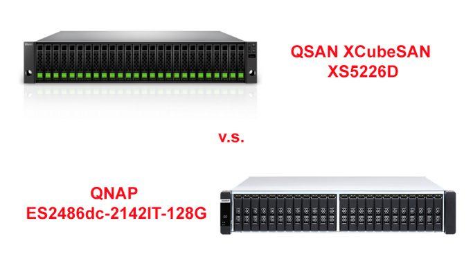 QSAN XS 5226D vs QNAP ES2486dc